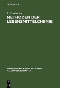 Cover Methoden der Lebensmittelchemie