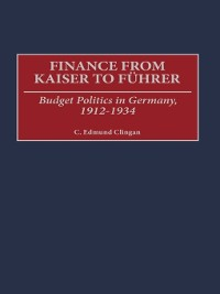 Cover Finance from Kaiser to Fuhrer