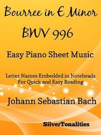 Cover Bourree In E Minor BWV 996 Easy Piano Sheet Music