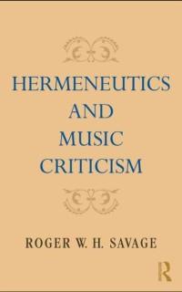 Cover Hermeneutics and Music Criticism