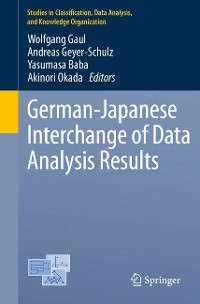 Cover German-Japanese Interchange of Data Analysis Results