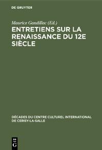 Cover Entretiens sur la Renaissance du 12e siècle