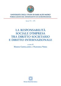 Cover La responsabilità sociale d'impresa tra diritto societario e diritto internazionale
