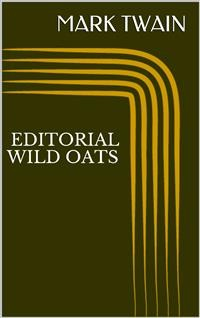 Cover Editorial Wild Oats