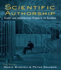 Cover Scientific Authorship
