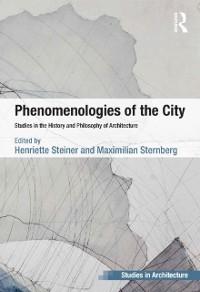 Cover Phenomenologies of the City