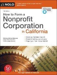 Cover How to Form a Nonprofit Corporation in California