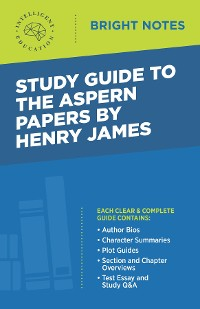 Cover Study Guide to The Aspern Papers by Henry James