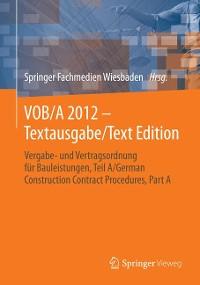 Cover VOB/A 2012 - Textausgabe/Text Edition