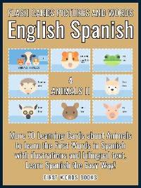 Cover 4 - Animals II - Flash Cards Pictures and Words English Spanish
