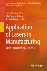 Cover Application of Lasers in Manufacturing