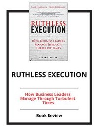Cover Ruthless Execution
