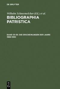 Cover Die Erscheinungen der Jahre 1988–1990
