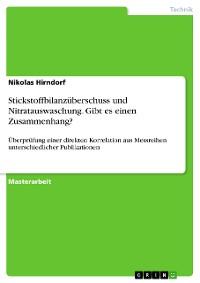 Cover Stickstoffbilanzüberschuss und Nitratauswaschung. Gibt es einen Zusammenhang?