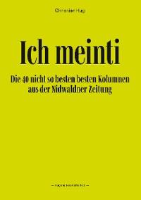 Cover Ich meinti III