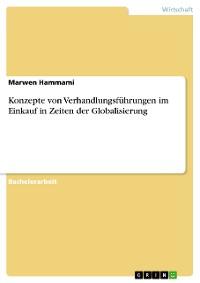 Cover Konzepte von Verhandlungsführungen im Einkauf in Zeiten der Globalisierung