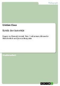 Cover Kritik der Autorität