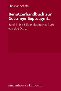 Cover Benutzerhandbuch zur Göttinger Septuaginta