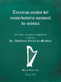 Cover Terceros Anales Del Conservatorio Nacional De Música