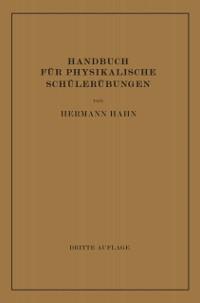 Cover Handbuch fur Physikalische Schulerubungen