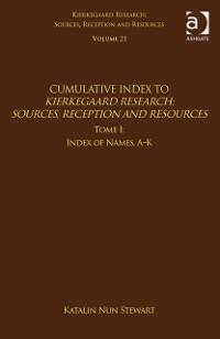 Cover Volume 21, Tome I: Cumulative Index