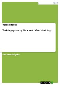 Cover Trainingsplanung für ein Ausdauertraining