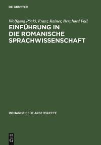 Cover Einführung in die romanische Sprachwissenschaft