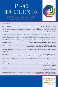Cover Pro Ecclesia Vol 27-N1