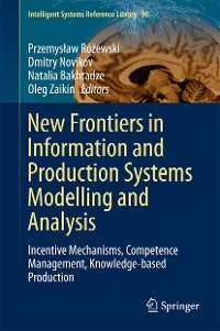 Cover New Frontiers in Information and Production Systems Modelling and Analysis