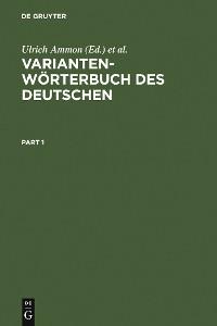 Cover Variantenwörterbuch des Deutschen