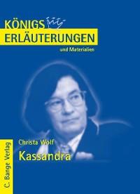 Cover Kassandra von Christa Wolf. Textanalyse und Interpretation.