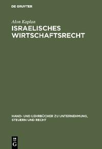 Cover Israelisches Wirtschaftsrecht