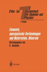Cover Taschenbuch fur Chemiker und Physiker