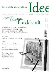 Cover Zeitschrift für Ideengeschichte Heft XII/1 Frühjahr 2018