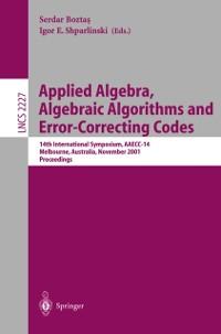 Cover Applied Algebra, Algebraic Algorithms and Error-Correcting Codes