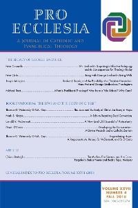 Cover Pro Ecclesia Vol 27-N4