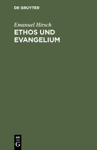 Cover Ethos und Evangelium