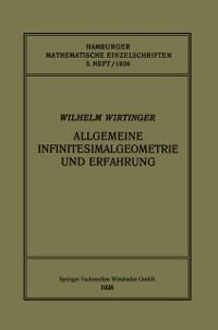 Cover Allgemeine Infinitesimalgeometrie und Erfahrung