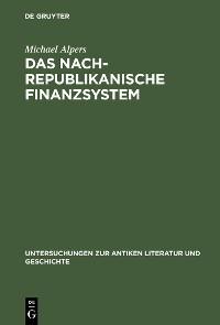 Cover Das nachrepublikanische Finanzsystem