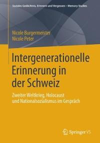 Cover Intergenerationelle Erinnerung in der Schweiz