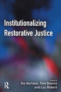Cover Institutionalizing Restorative Justice