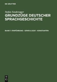 Cover Einführung - Genealogie - Konstanten
