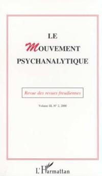 Cover Le Mouvement Psychanalytique Vol. III, 1