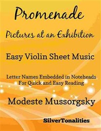 Cover Promenade Pictures at an Exhibition Easy Violin Sheet Music