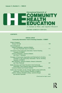 Cover Community Intervention Trial for Smoking Cessation