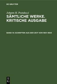 Cover Schriften aus der Zeit von 1801–1803