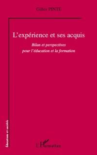 Cover L'experience et ses acquis - bilan et perspectives pour l'ed
