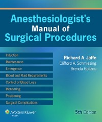 Cover Anesthesiologist's Manual of Surgical Procedures