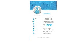 Cover Customer Encounters on Twitter