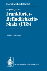 Cover Fragebogen zur Frankfurter-Befindlichkeits-Skala (FBS)